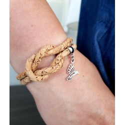 bransoletka JOYEE CORK KNOT with colibre